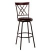 Hillsdale Furniture Northland Adjustable Height Swivel Bar Stool with Cushion