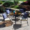 Outdoor Innovation Sims 5 Piece Dining Set with Cushions