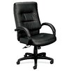 Basyx by HON Leather Executive Chair with Padded Arms