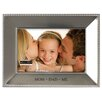 """Malden 4"""" x 6"""" Mom and Dad = Me Beaded Picture Frame"""