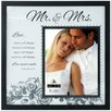 "Malden 8 x 10"" Mr and Mrs. Frosted Glass Picture Frame"