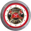 """Neonetics 15"""" Fire Department Neon Clock"""