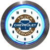 """Neonetics Cars and Motorcycles 15"""" Chevy Truck Wall Clock"""