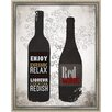 Green Leaf Art Wines I Framed Painting Print