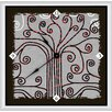 "Green Leaf Art Abstract 11"" Tree Art Wall Clock"
