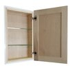 """WG Wood Products Cumberland 24"""" Recessed Shallow Depth Frameless Cabinet"""