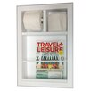 WG Wood Products In The Wall Bevel Frame Magazine Rack with Toilet Paper Combo