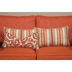 South Sea Rattan Small Indoor/Outdoor Sunbrella Throw Pillow