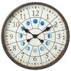 "CBK Distressed Porthole 22.72"" Wall Clock with Moon Phases"