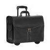 Mancini Business Leather Deluxe Wheeled Laptop Compatible Catalog Case