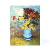ArtWall ''Flowers in Blue Vase'' by Vincent Van Gogh Painting Print on Canvas
