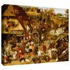 ArtWall 'The Flemish Proverbs' by Pieter Bruegel Gallery Wrapped on Canvas