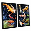 ArtWall Koi by George Zucconi 2 Piece Floater Framed Photographic Print on Canvas Set