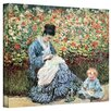 ArtWall ''Mother and Child'' by Claude Monet Canvas Painting Print