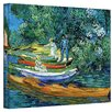 """ArtWall """"Bank of the Oise at Auver"""" by Vincent Van Gogh Painting Print on Canvas"""