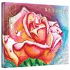 ArtWall 'Pink Rose Dew' by Susi Franco Painting Print on Canvas