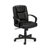 HON Basyx Mid-Back Leather Conference Chair