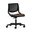 HON Motivate Mesh-Back Task Chair in Grade V Silvertex Vinyl