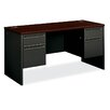 "HON 38000 Series 60""W Double Pedestal Computer Desk"