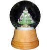 Alexander Taron Christmas Tree Snow Globe with Wooden Base