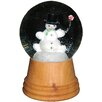 Alexander Taron Perzy Medium Snowman Snow Globe with Wooden Base