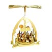 Richard Glaesser Wood Color Arch Nativity Pyramid
