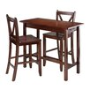 Winsome Kitchen Island 3 Piece Dining Set