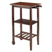 Winsome Stevenson Kitchen Cart with Wood Top