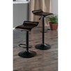 Winsome Paris Adjustable Height Swivel Bar Stool with Cushion (Set of 2)