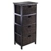 Winsome Omaha 4 Drawers Storage Rack with Foldable