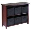 Winsome Verona 6 Drawers Low Storage Shelf with Foldable