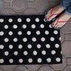 Entryways Handmade Polka Dots Doormat