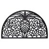 Entryways Recycled Rubber Pineapple Half Round Doormat