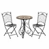 Bombay Heritage Avalon 3 Piece Bistro Table and Folding Chair Set