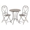 Bombay Heritage Cantabria 3 Piece Bistro Table and Folding Chair Set