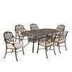 Home Styles Floral Blossom 7 Piece Dining Set with Cushions