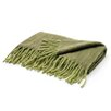 Hip Vintage Two Tone Green Mohair Throw