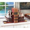 Zingz & Thingz Sailing Schooner Book End (Set of 2)