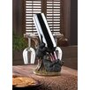 Zingz & Thingz Black Bear 1 Bottle Tabletop Wine Holder