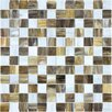 "Faber Baroque 1"" x 1"" Glass Gloss Mosaic in Peperino"
