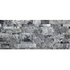 Faber Sivler Split Face Travertine Random Sized Wall Cladding Mosaic in Silver and Gray