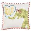 Hen Feathers Epic Splash Yolo Down Throw Pillow