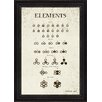 Melissa Van Hise Dalton's Elements I Framed Textual Art