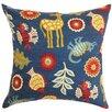 The Pillow Collection Derain Floral Cotton Throw Pillow