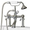 Cambridge Plumbing Clawfoot Deck Mount Brass Tub Faucet with Hand Held Shower