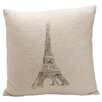 Provence Home Collection Auron Eiffel Tower Print Cotton Throw Pillow