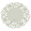Xia Home Fashions Daisy Lace Embroidered Cutwork Round Doily (Set of 4)