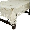 Xia Home Fashions Bordeaux Embroidered Cutwork Round Tablecloth