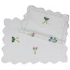 Xia Home Fashions Handmade Crochet with Embroidery Flowers Placemat (Set of 4)