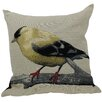 Xia Home Fashions Finch Bird Emboridery Throw Pillow